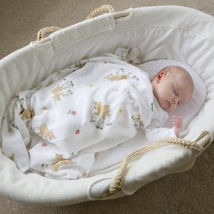 Bamboo swaddle blankets from The Little Art Collection