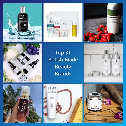 Top 31 British-made Beauty Brands