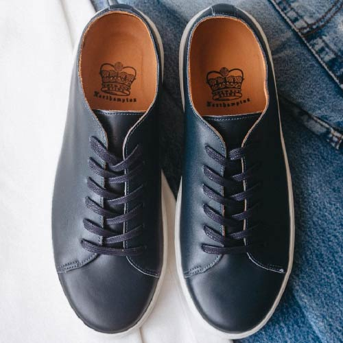 Crown Northampton, british brand, uk manufacturing, leathergoods, leather shoes, local leather, british leather, trainers, outdoor shoes, comfort shoes, craftsmanship
