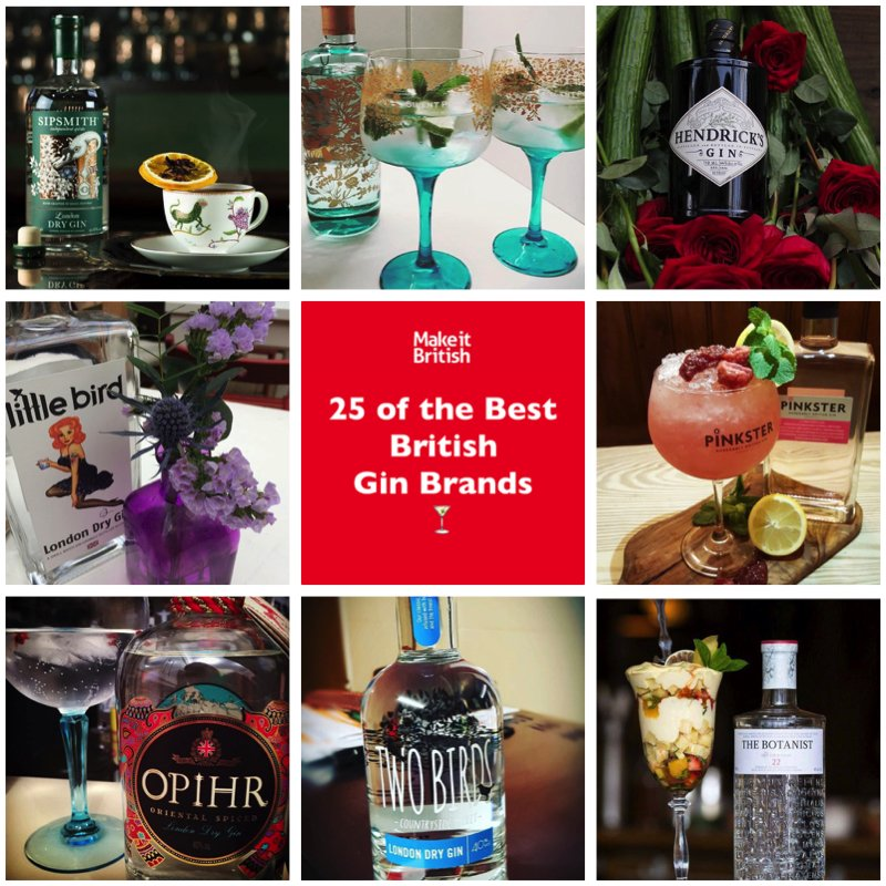 25 best British Gin Brands