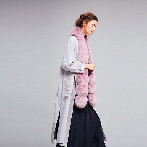 Helen Moore faux fur scarf