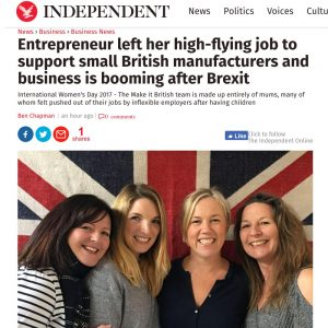 Make it British team in The Independent