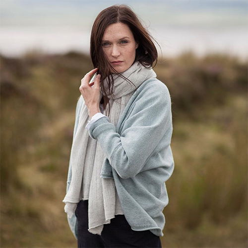 Oubas Knitwear British-made scarves