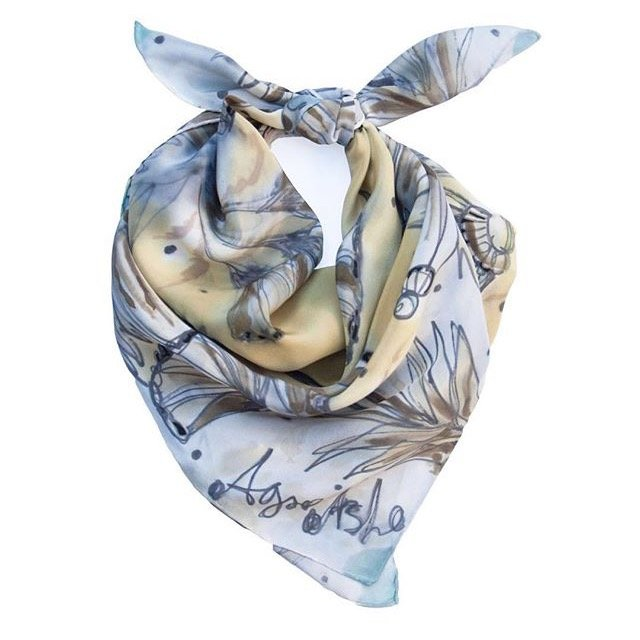 Agnes Ashe British made silk scarves