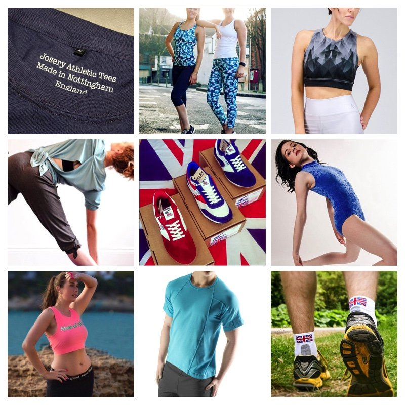 To 10 British-made athleisure