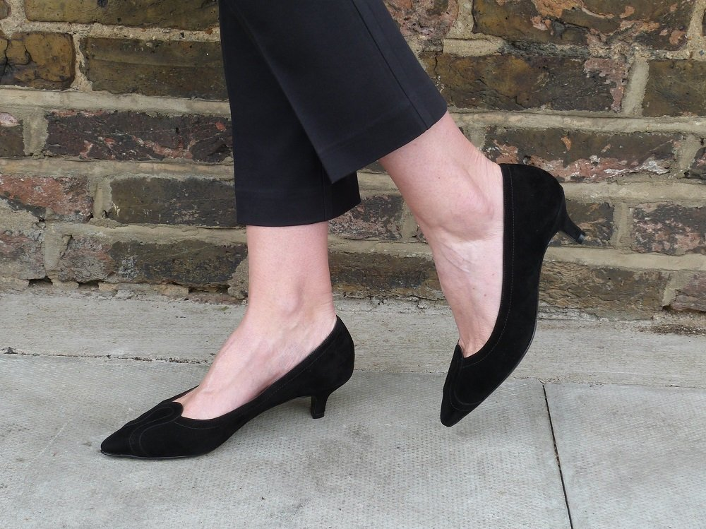 Kathryn Black Suede: elegant but practical heels by Joseph Azagury