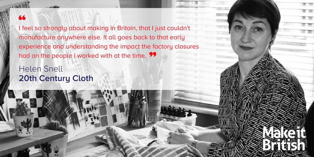 20th Century Cloth Vintage Inspired British Made Fabric Design