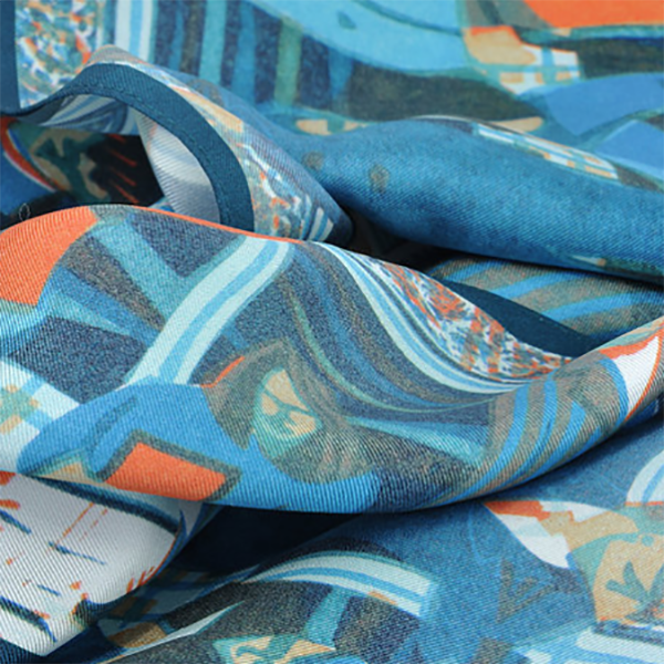 David Watson, silk scarves, pocket square, digital printing, silk, hand rolled, artist, artwork