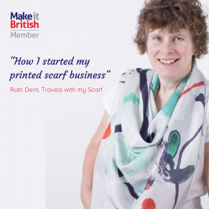 How I started my printed scarf business with Ruth Dent