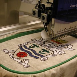 weaving, embroidery, badges, trim