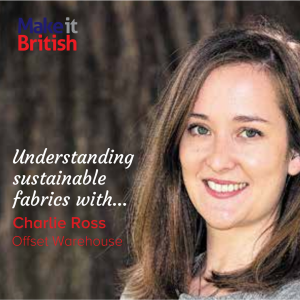 sustainable, ethical, eco fabrics, Charlie Ross, Offset Warehouse