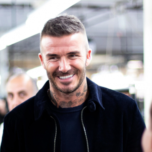 David Beckham at the Private White V.C. factory