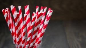 stripy paper straws