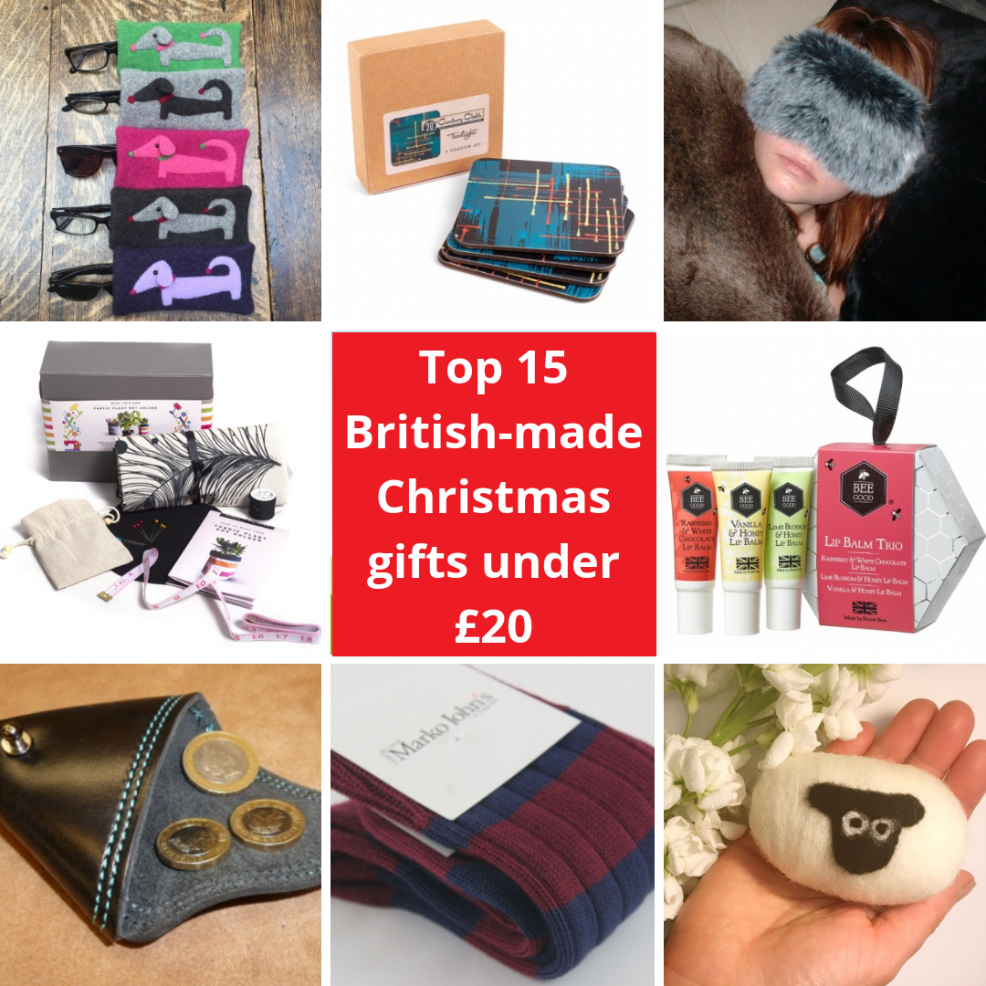 Christmas Gifts Under 20.Best British Made Christmas Gifts For Under 20 Make It