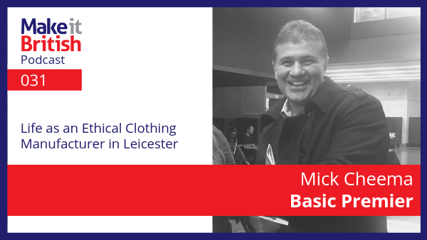 Mick Cheema Basic Premier Ethical garment manufacturer leicester