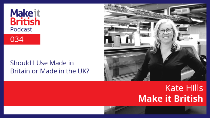 should i use made in britain or made in UK?