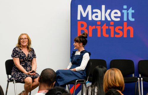 Tori Murphy textile designer at MiB Live!