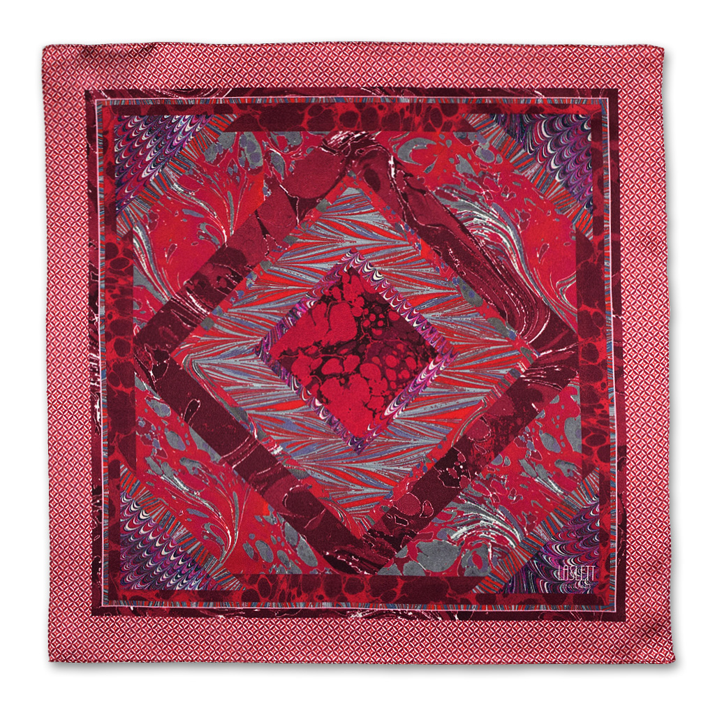 Marble-Red-Silk-Pocket-Square
