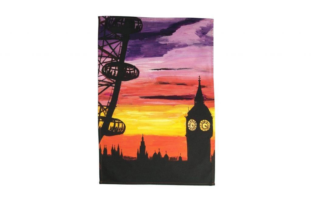 TTL4112-Eye-on-Big-Ben-XL-Tea-Towel-London-Collection
