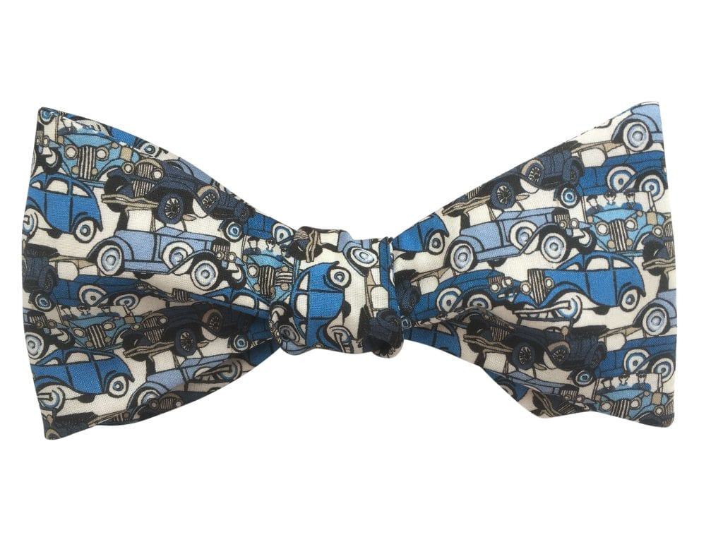 liberty-roaring-wheels-vintage-cars-blue-self-tie-bow-tie
