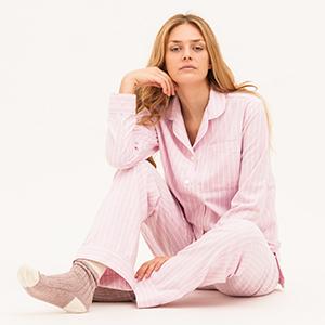 womens-pink-brushed-cotton-pyjamas