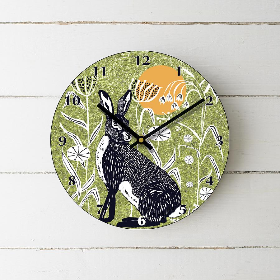 J2WILDER2greenclock-Hare-green-clock-photo-web