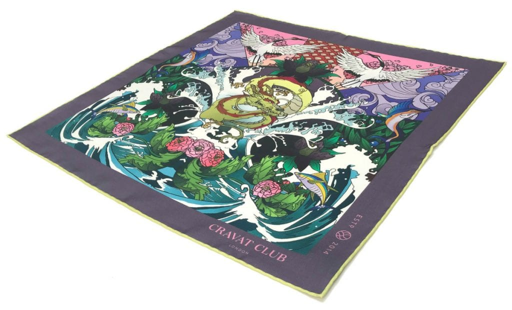 aranami_japanese_dragon_tsunami_waves_crane_cherry_blossom_mens_printed_silk_pocket_square_massive