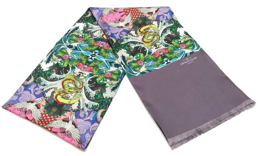 aranami_japanese_pattern_irezumi_tattoo_style_dragon_cranes_tsunami_printed_silk_mens_evening_scarf_made_in_england_massive