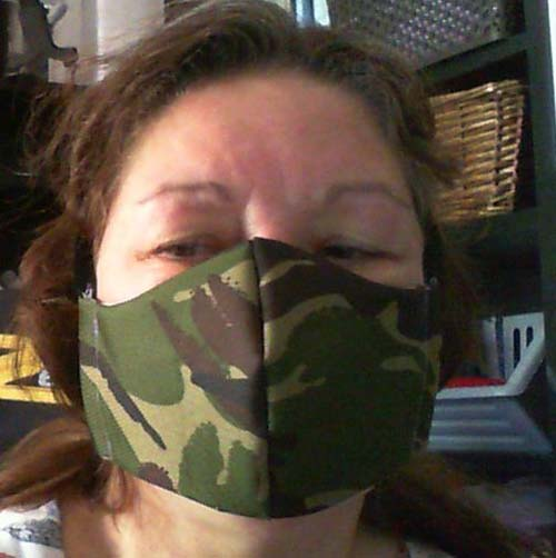 Duxenhall face covering in camo