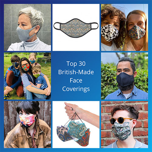 Top 30 British made face coverings and face masks