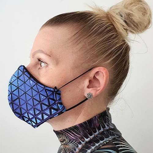 Halcyon Blue face mask