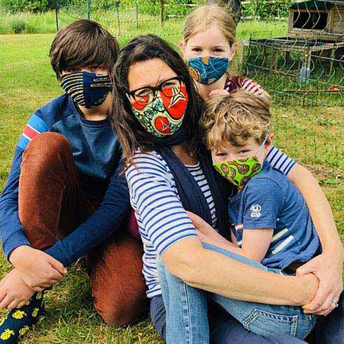 Settlers Stores family face masks made in the UK