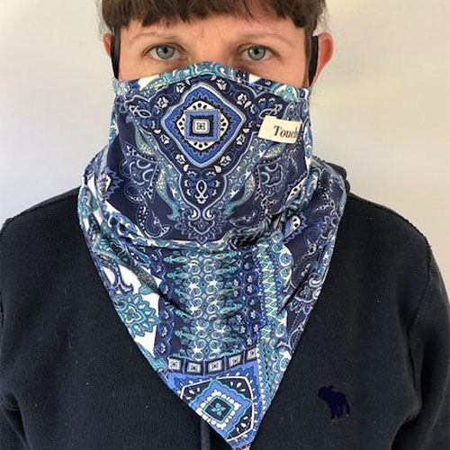 Touche Boutique scarf face covering