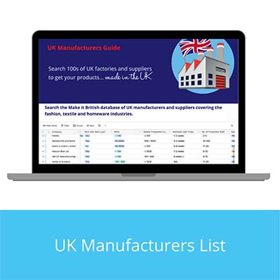 UK Manufacturers List