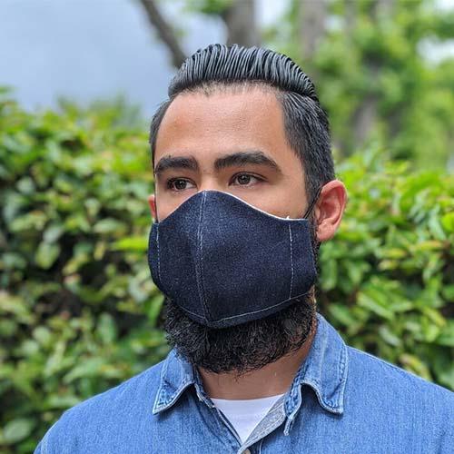United Overalls denim face covering