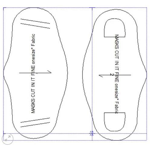 Vetigraph Fashion Digital Solutions face mask pattern