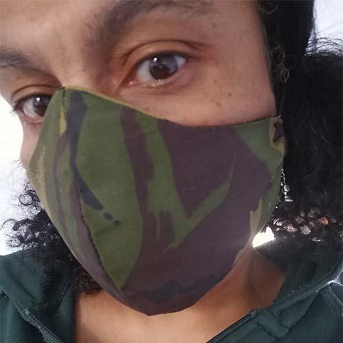 MancMade face mask in camo