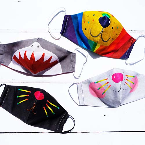 Wild Things kids face masks made in the UK