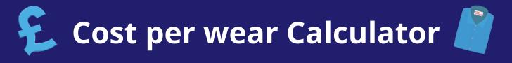 Cost per wear calculator