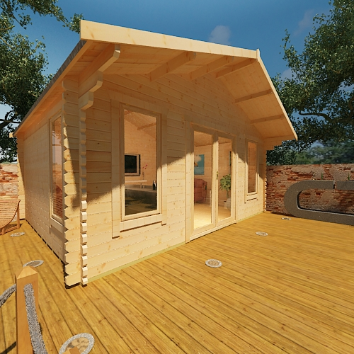 1 Click Log Cabins, timber sectional buildings, outdoor, garden buildings, sheds