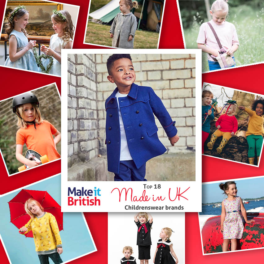 Top 18 Made in UK Childrenswear