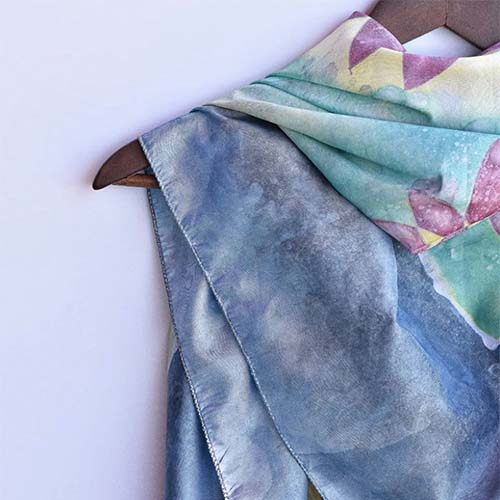 Aga Sova, UK-made silk scarf brand