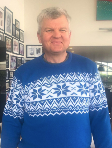 Adrian Chiles, Living British, Paul James Knitwear, Leicester