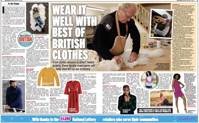 Brilliantly British, uk-made, made in Britain, British brands, British clothing