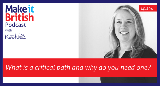 Ep.158 What is a critical path and why do you need one?