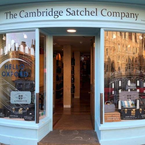 Cambridge Satchel Company retail shop