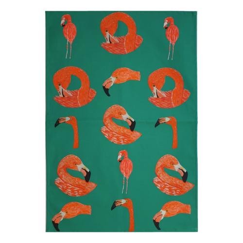 Jwesty Design Flamingo Tea Towel