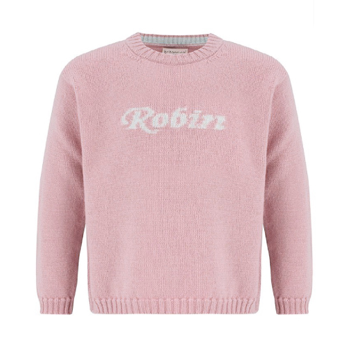 Britannical kids personalised cashmere collection pink