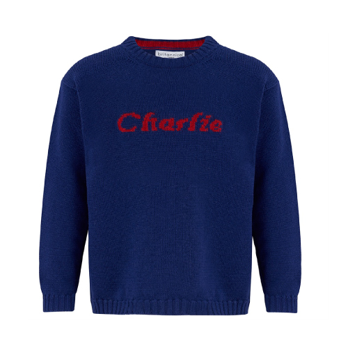 Britannical kids personalised cashmere collection navy