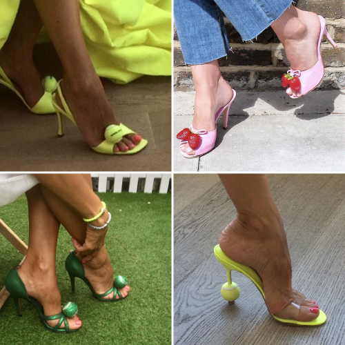 Joseph Azagury Wimbledon inspired shoes